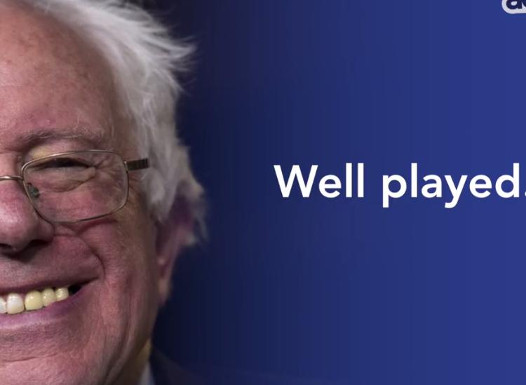 Bernie's got game!