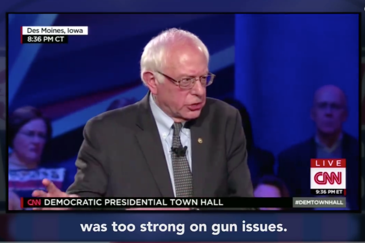 Where does Bernie really stand on guns?